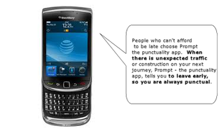 Prompt for BlackBerry 9800