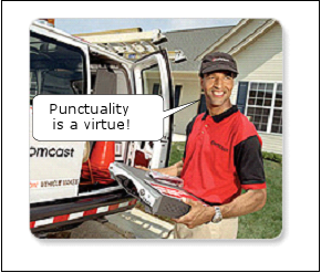 Comcast punctuality